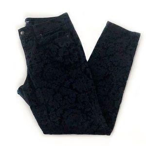 Loft • Modern Skinny Damask Velvet Jeans